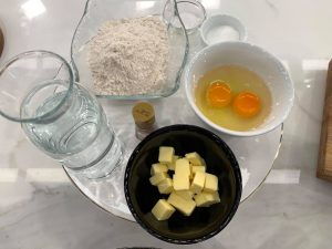 βουτυρο, αλευρι, αυγά
