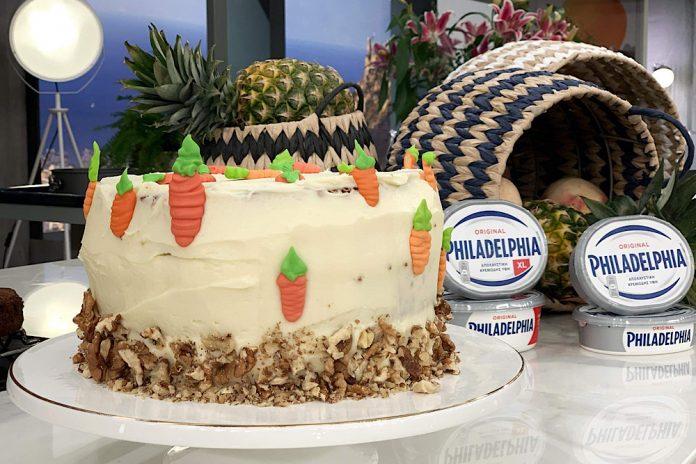 Carrot cake με Philadelphia frosting