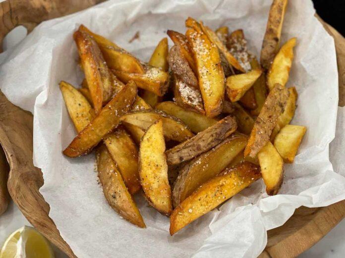 Τηγανητές πατάτες με την φλούδα
