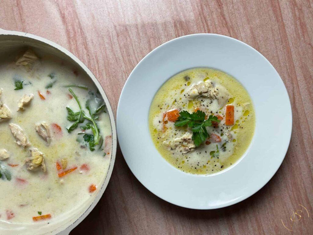 κοτόσουπα αυγολέμονο (2)