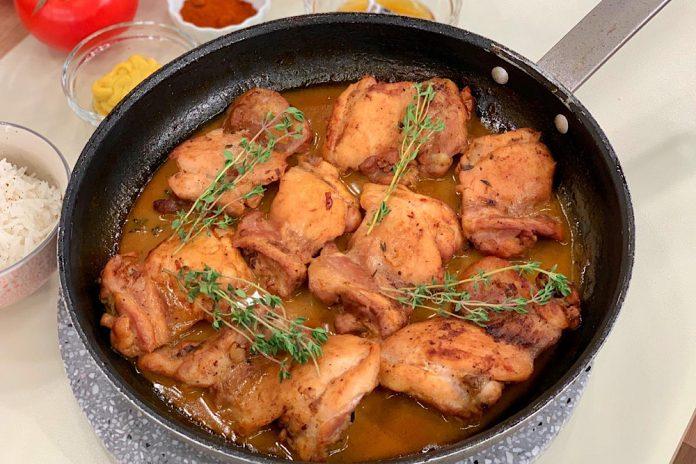μποτάκια κοτόπουλο με σάλτσα μπύρας