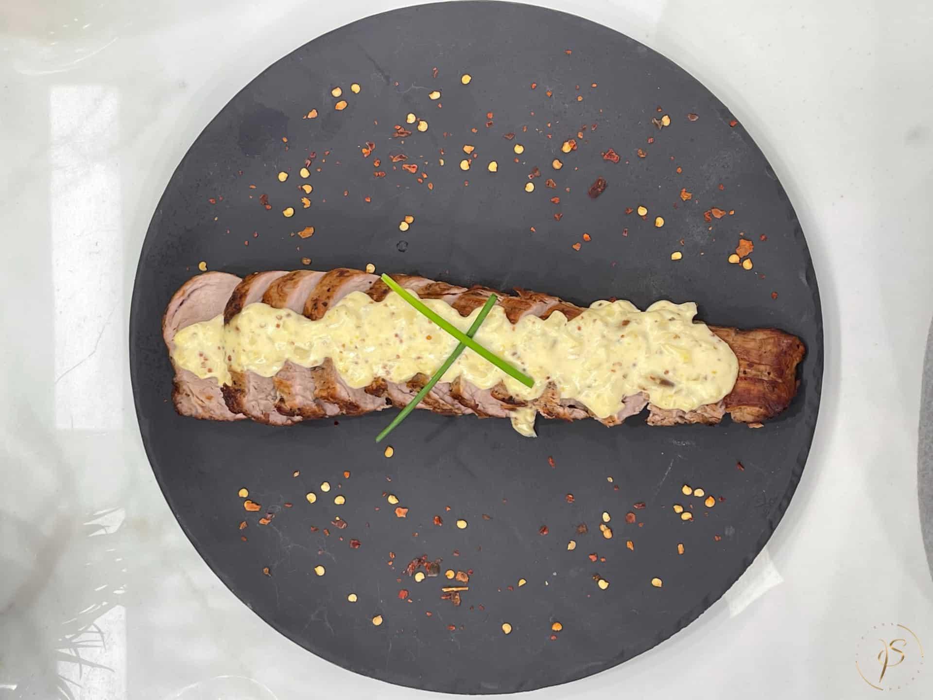 ψαρονέφρι σε κρεμώδη σάλτσα μουστάρδας