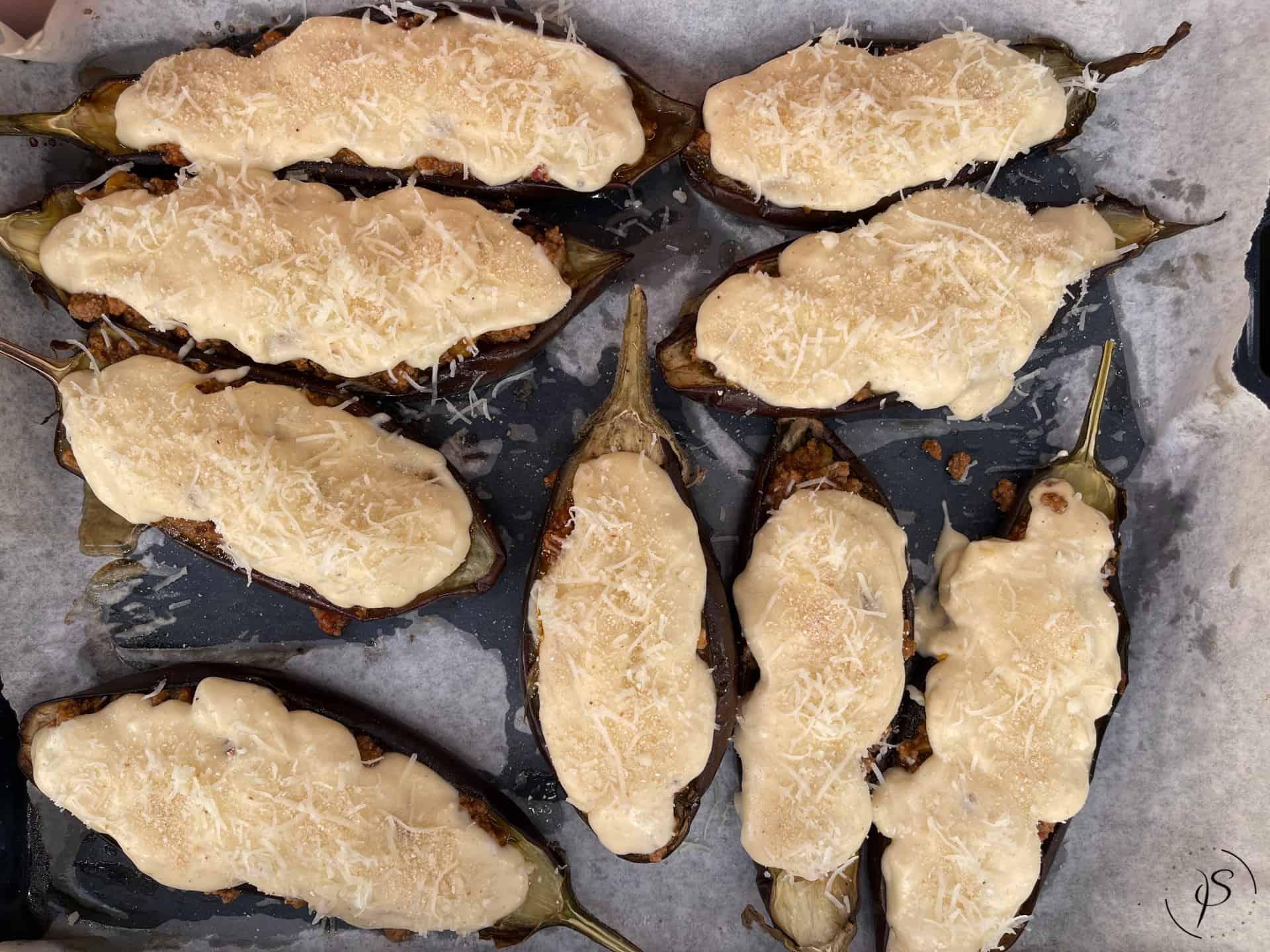 Μελιτζάνες παπουτσάκια στήσιμο